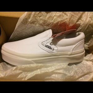 Other - Toddlers White Van's Size 11